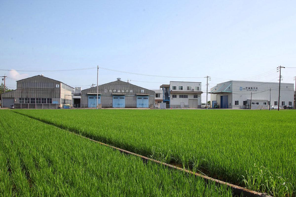 豊かな自然に囲まれた伊藤製作所